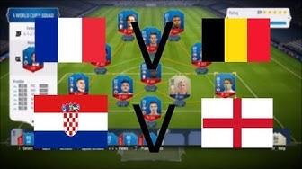 Ranska-Belgia ja Kroatia-Englanti | Jalkapallon MM-kisat 2018 Välierät | FIFA18 World Cup