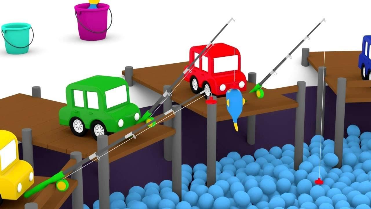 Top Havuzunda Balık Tutan Arabalar çizgi Film Animasyon Youtube