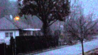 Wintergewitter, Schnee, Hagel, Graupel in Berlin, Brandenburg, Deutschland (20. Dezember 2014)