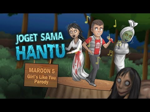 Kartun Lucu  - Maroon 5 - Girls Like You Cover Parody, Joget Sama Hantu, Kartun Rizky Riplay