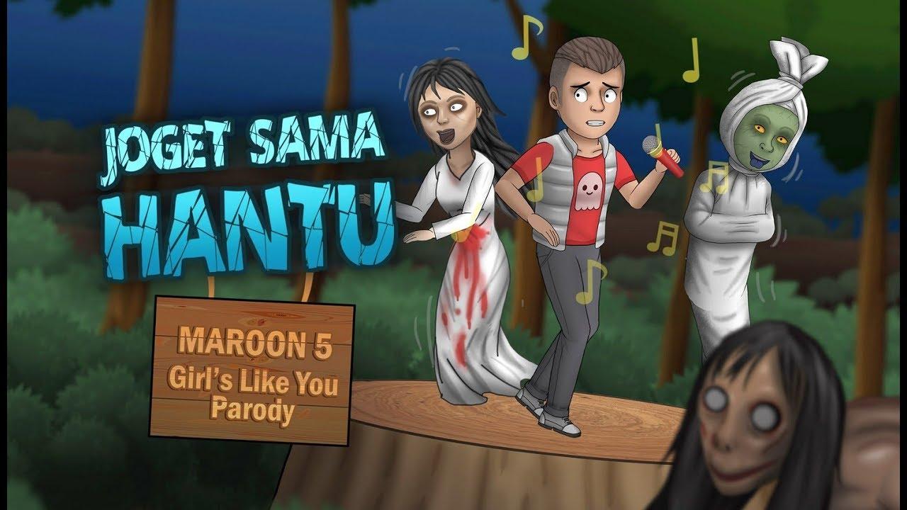 Download Kartun Lucu  - Maroon 5 - Girls Like You Cover Parody, Joget Sama Hantu, Kartun Rizky Riplay