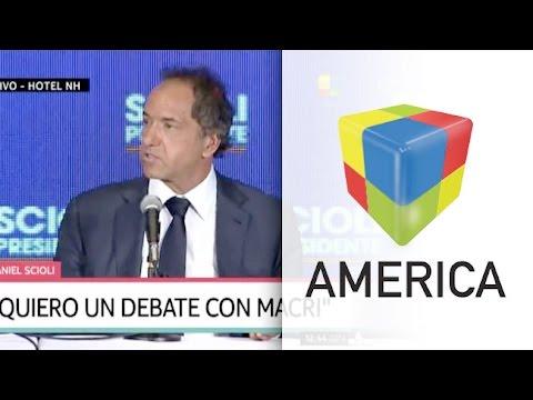 Scioli ahora sí quiere debatir con Macri