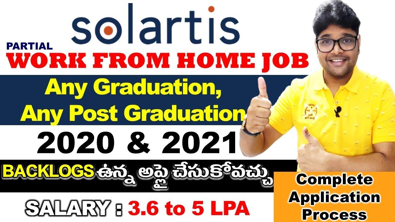 Solaritis recruitment 2021 in Telugu  Solaritis Off Campus Recruitment 2021 Latest jobs V the Techee