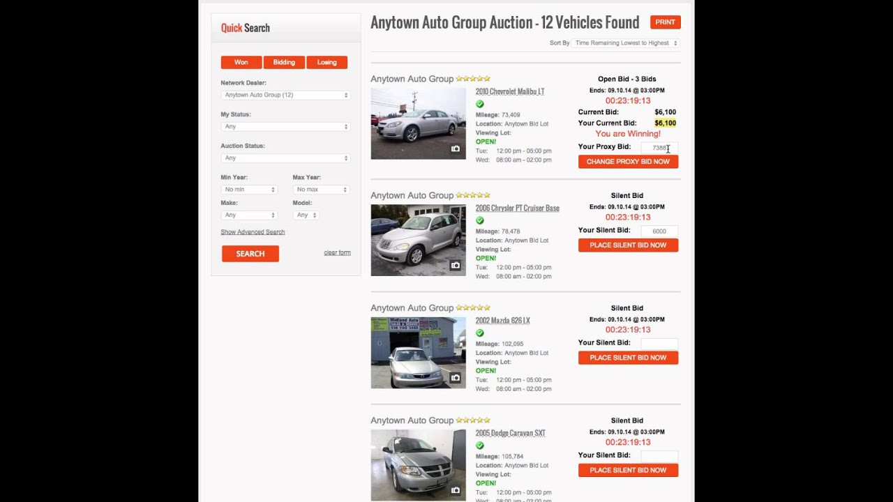 How To Bid On Cars With Auction Simplified Youtube