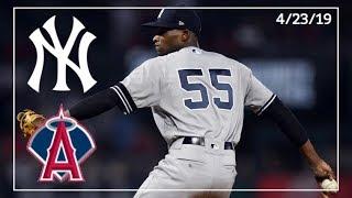 New York Yankees @ Los Angeles Angels   Yankee Highlights   4/23/19