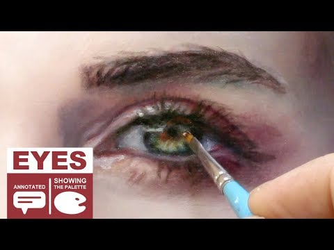 OIL PAINTING PORTRAIT DEMO ✦ REALISTIC ART VIDEO ✦ Eye sequences compilation by Isabelle Richard