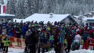 Großer andrang der wintersportler - massenansturm am uga-express in damüls#covid19 #wintersport #vorarlberg