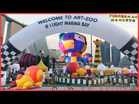 Giant Art Zoo Inflatable Bounce-off Park at The Float Marina Bay Singapore
