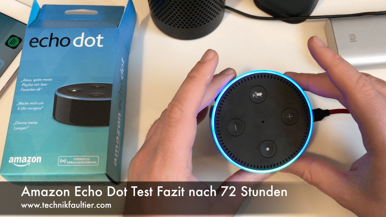 amazon echo dot test fazit nach 72 stunden youtube. Black Bedroom Furniture Sets. Home Design Ideas