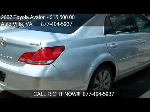 Auto Villa Danville Va >> 2007 Toyota Avalon Limited For Sale In Danville Va 24540
