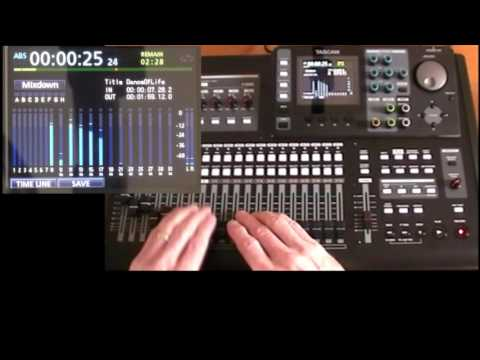 Tascam DP24/32SD Tutorial 10: Mixdown & Mastering