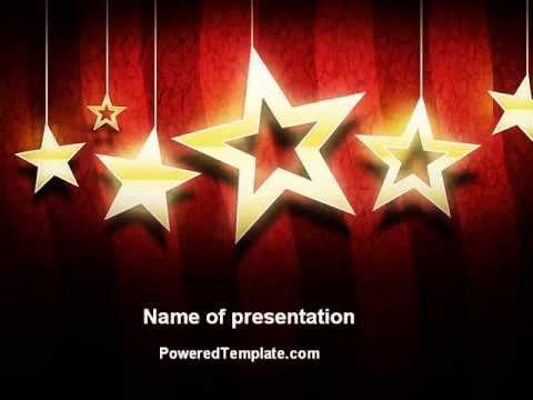 Golden Stars Powerpoint Template By Poweredtemplate Youtube