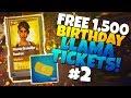 FREE 1,500 Birthday Llama TICKETS! (FREE Smörgåsbord llama #2) | Fortnite Save The World