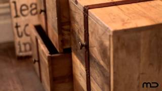 L'usine Vintage 4 Drawer Trunk  - Milan Direct