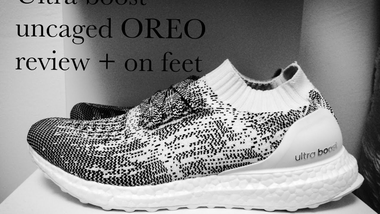 Adidas ultra Boost uncaged Oreo Camo glitch unboxing review   en