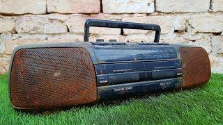 I Restored this Panasonic Stereo Radio Cassette Recorder Junk - Panasonic RX - FT510 Restoration