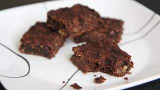 Vegan Brownies Recipe - Gluten Free Brownies - Black Bean Brownies - Healthy Brownies