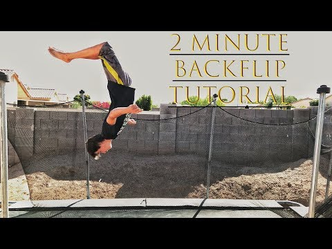 How To Do A Backflip On A Trampoline In 2 MINS! For Beginners!