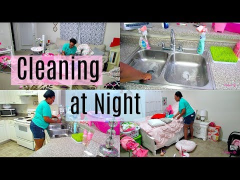NIGHT TIME CLEANING | STAY AT HOME MOM | MOM OF TWO | Destiny's Life