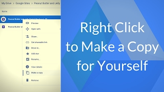 Google Drive - Right Click to Make A Copy For Yourself