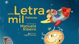 capa de Uma Letra Mil Palavras de Manuela Ribeiro
