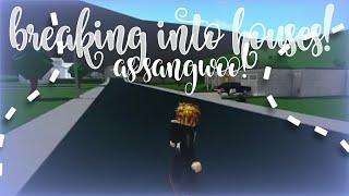 BREAKING INTO HOUSES AS SANGWOO AND AIZAWA? || Bloxburg Roblox || Gamer Goddess