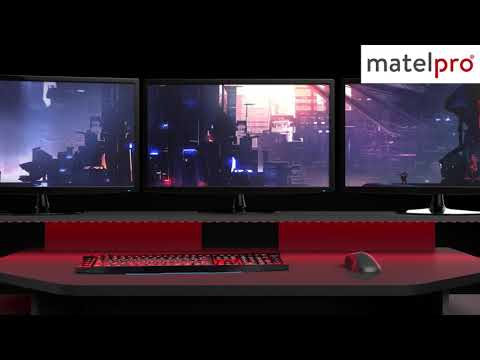 Bureau gamer moderne gris ombre noir spacy matelpro youtube