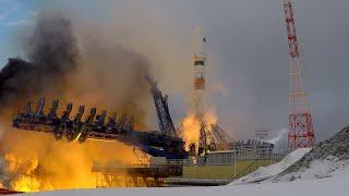 Фото Пуск ракеты «Союз» с военным спутником — видео со стартовой площадки космодрома Плесецк