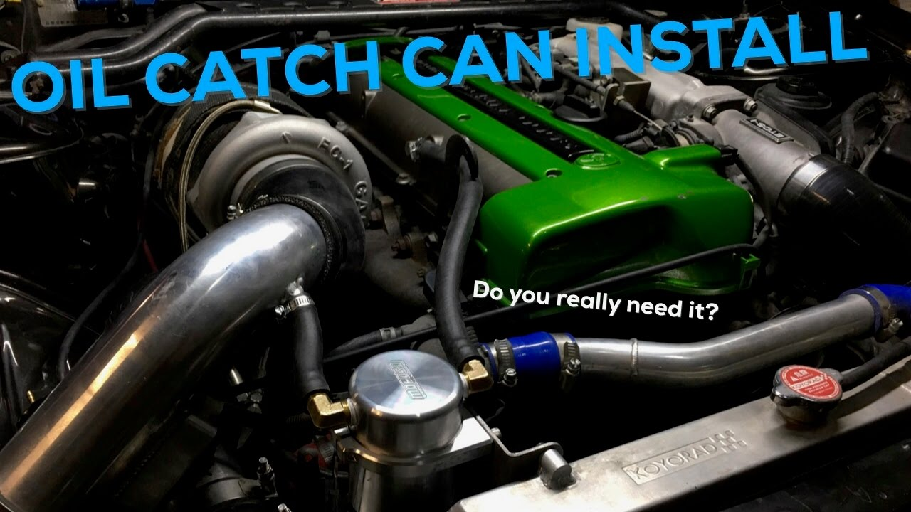 DO YOU REALLY NEED IT? | Oil catch can install on 2JZ 240sx Drift Car