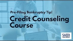 The Pre-Bankruptcy Credit Counseling Course
