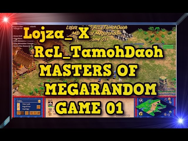 Age of Empires 2 HD Lojza X RcL TamohDaoh Game 01 MoMR Round1 AoE2HD Gameplay PT BR