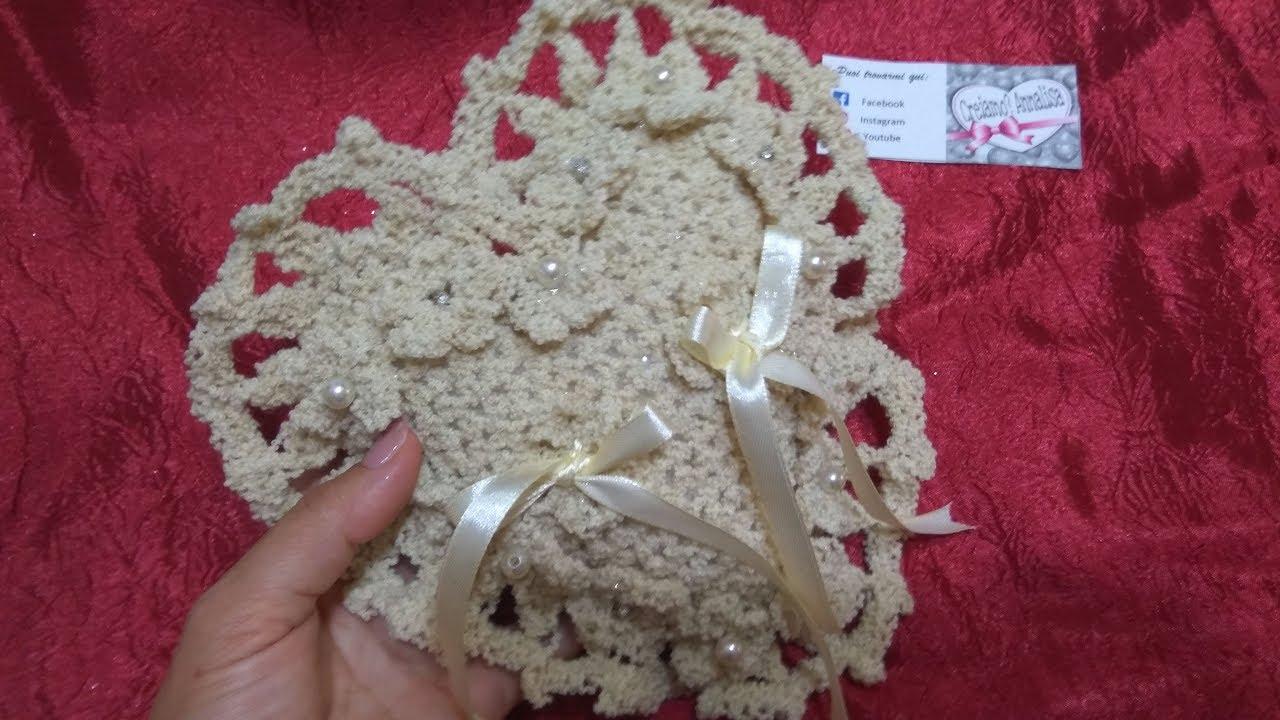 Portafedi Cuscino A Cuore Ad Uncinetto Cojin Almohada Pillow Cushion Youtube