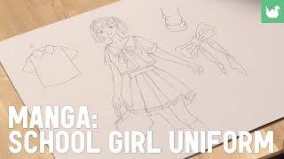 Manga: school girl uniform