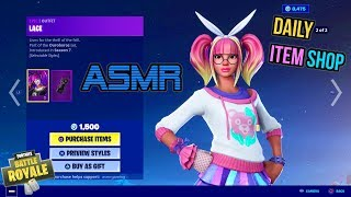 ASMR | Fortnite NËW Lace Skin Fashion Edit Style! Daily Item Shop Update 🎮🎧 Relaxing Whispering 😴💤