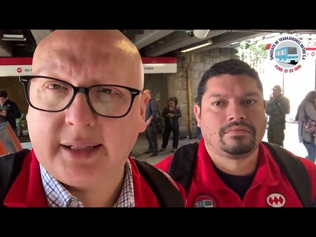 Reporte 21 octubre Sindicato Metro se despliega en línea 1