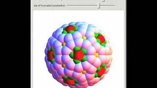Spheres on a Truncated Icosahedron