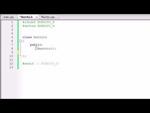 Buckys C++ Programming Tutorials - 15 - Placing Classes in Separate Files