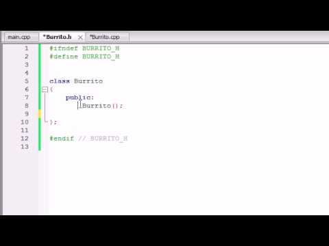 Buckys C++ Programming Tutorials - 15 - Placing Classes in Separate Files