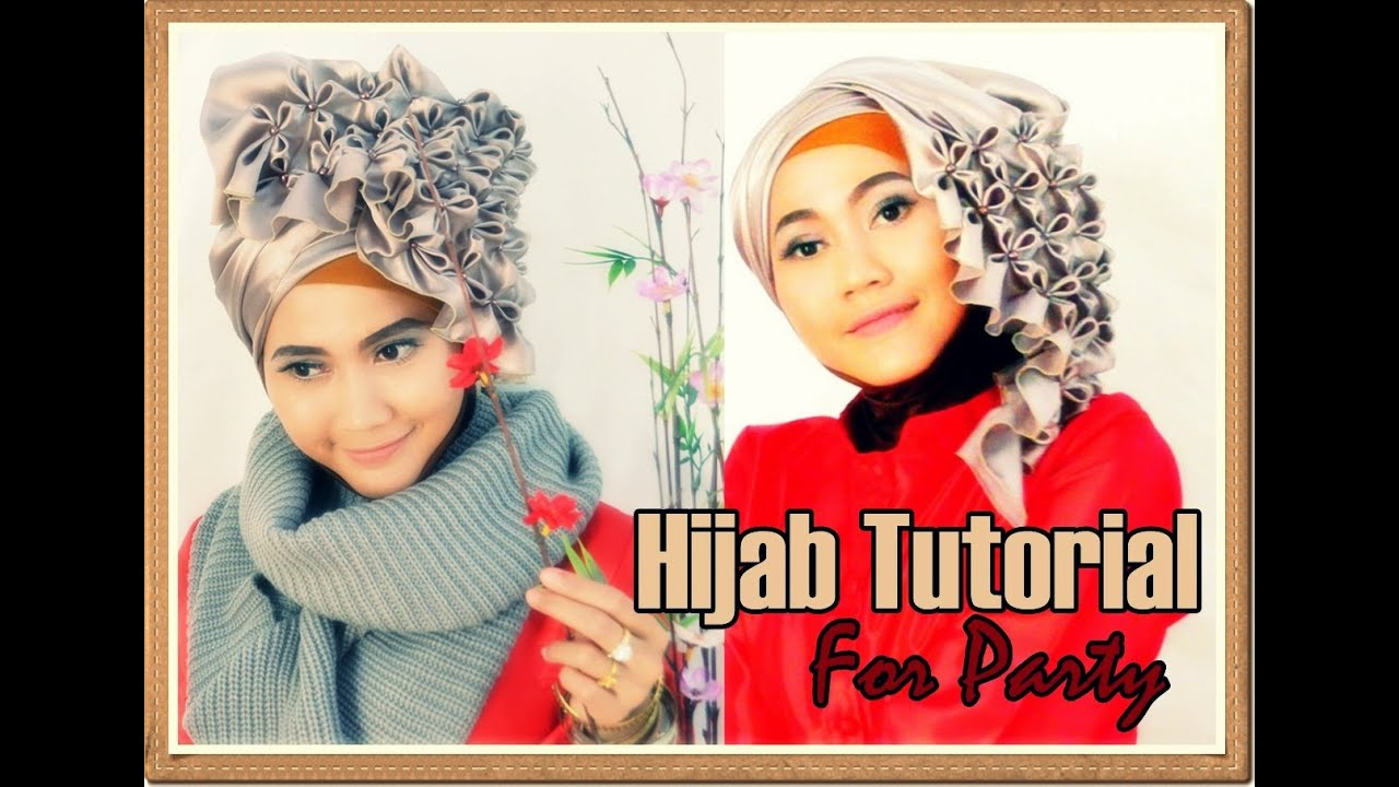 Tutorial Hijab Segi Empat Pesta Wisuda Beaded J By Didowardah 1