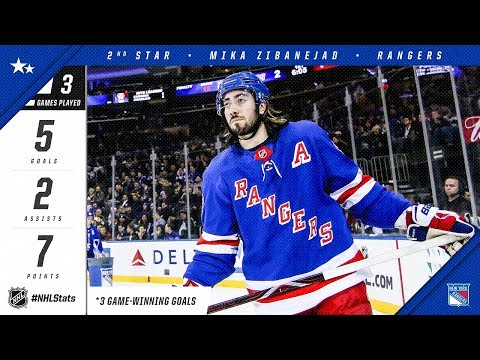 Mika Zibanejad takes home second star of the week