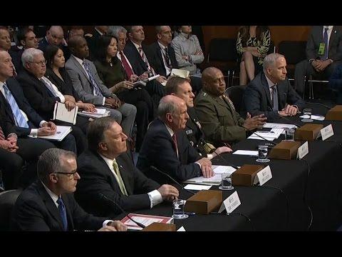 Intel chiefs testify about worldwide threats