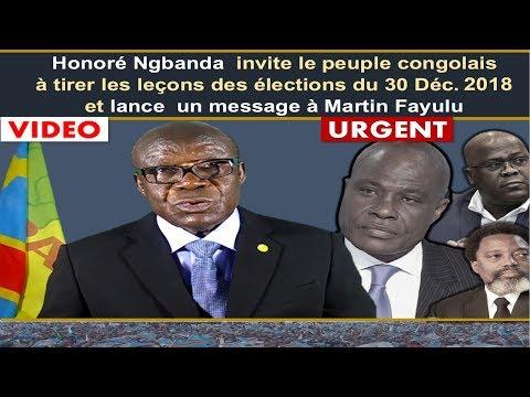 Honoré Ngbanda  Invite le Peuple Congolais à Tirer les Leçons des Elections du 30 Décembre 2018