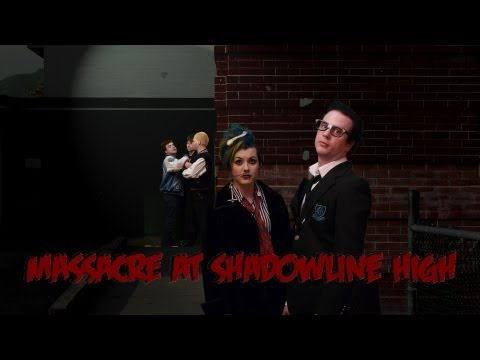 MASSACRE AT SHADOWLINE HIGH Episode 1 HD - Spooksy Delune, The Vampire Bats, Sally Dige, Goth Night