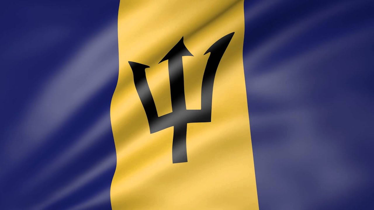 Barbados Flag Animated