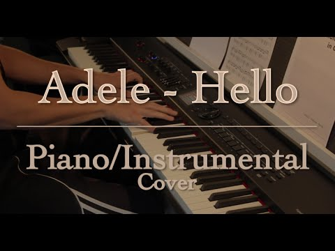 "Adele - ""Hello"" (Piano / Instrumental Cover)"
