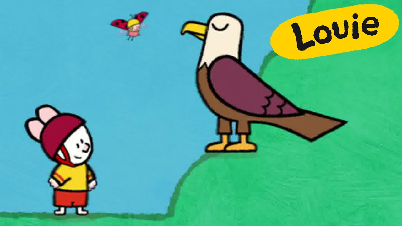 Eagle Louie draw me an eagle Learn to draw cartoon for