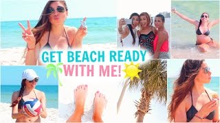 Get Beach Ready With Me! Summer Essentials, Makeup, Hair, Outfit, & Things To Do!