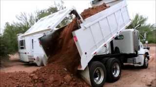 Dump Truck Dumps the Load