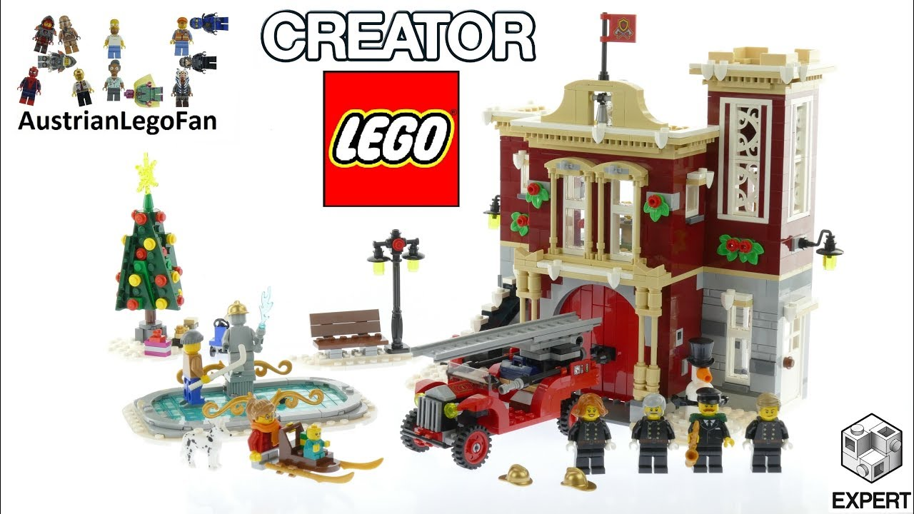 Lego Winter Village Fire Station - Lego Creator 10263 Speed Build ...