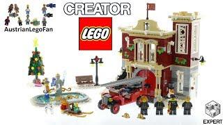 Lego Creator 10263 Winter Village Fire Station Speed Build